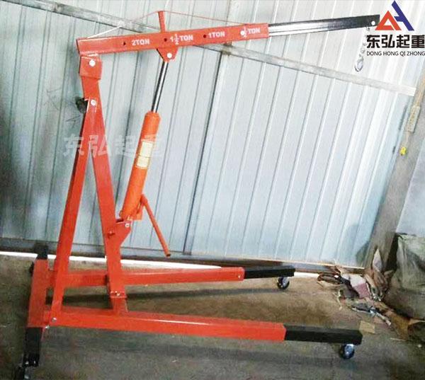 2吨固定式汽车发动机吊架-汽车移动小吊机