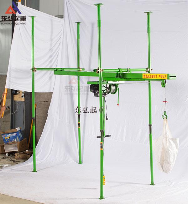 室内四柱直滑式小吊机安装流程
