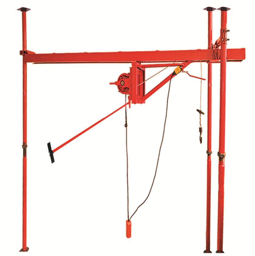 室内单绳直滑吊运机